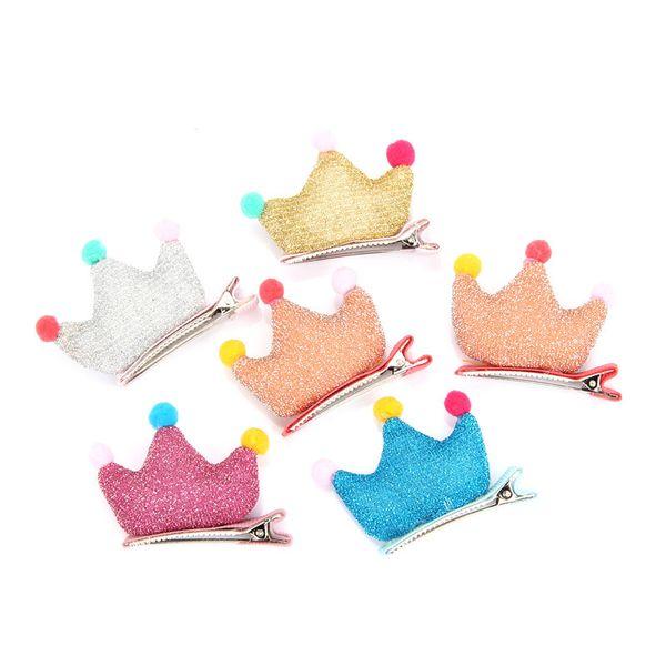 New Cute mix crown Korean Dog hair accessories Pet hairpin crown cloth Dog headdress pet accessories 50pcs