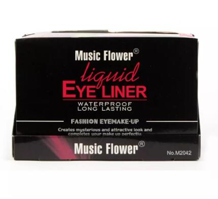 Wholesale-2017 Eye Liner Delineador Music Flower 24pcs Professional Fashion Color Makeup Color Liquid Eyeliner 6 Colors Water-proof