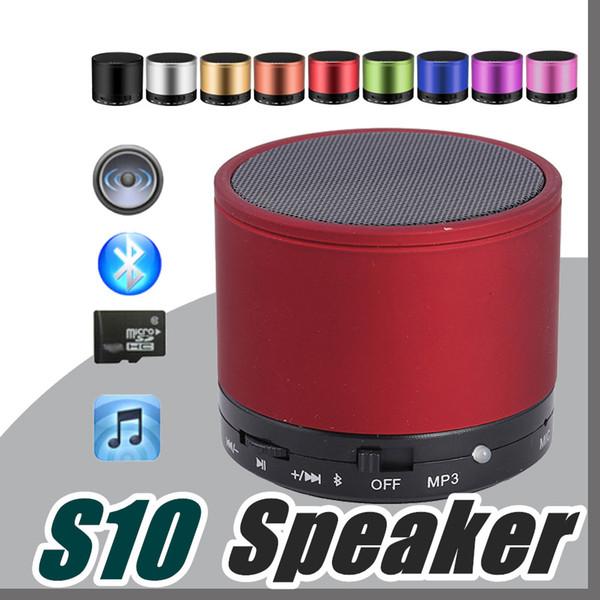 2017 DHL S10 Alto-falantes Bluetooth Speaker Ao Ar Livre Handfree Mic Estéreo Falantes Portáteis TF Cartão Chamada Função No Logo Retail Box B-YX