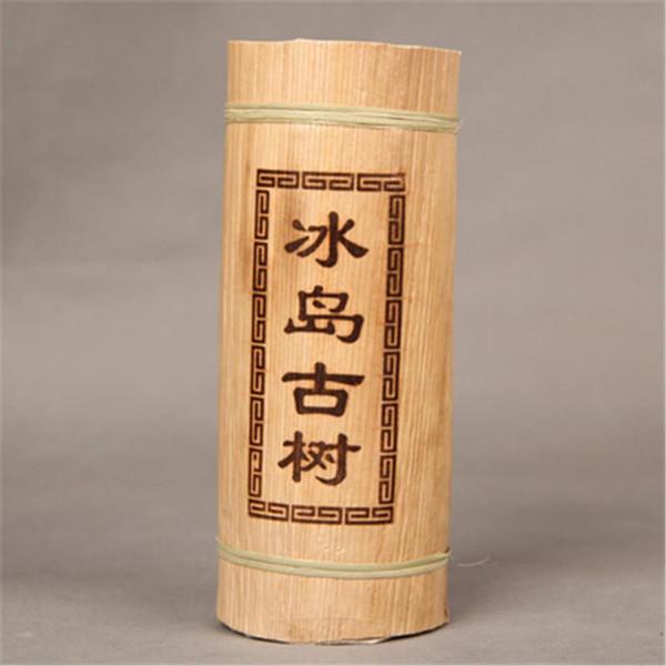 C-PE146 Yunnan Puerh çay Ejderha ayağı bambu tüp ham çay İzlanda eski ağacı puer malzeme Yeşil gıda pu er çay 500g
