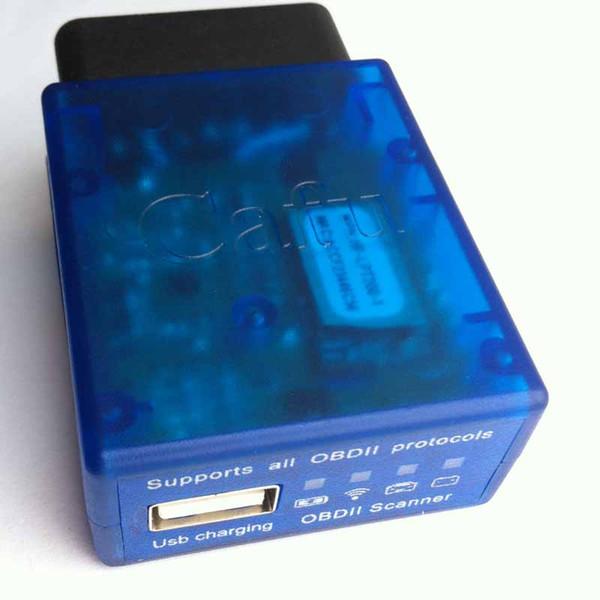 Großhandels-2016 neue ELM327 V1.5 Wifi plus USB-Ladeanschluss Auto OBD2 Diagnose-Tool ELM 327 OBDII Wireless-Scanner für beide Android / IOS