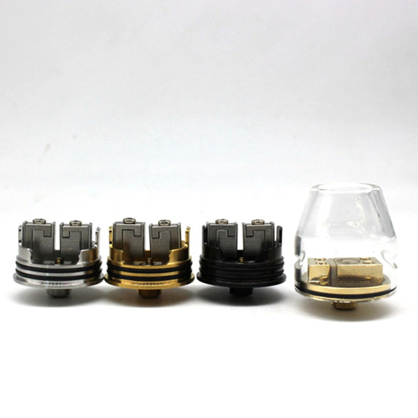 CSMNT Glass RDA COSMONAUT Rebuildable Dripper Atomizer Kryten Glass RDA Unique 2 Post Coil Clamping System Peek Insulators High Quality DHL