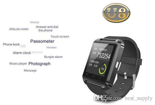 U8 smartwatch , U8 Bluetooth Smart Watch Phone Mate For Android&IOS Iphone Samsung LG Sony 2017
