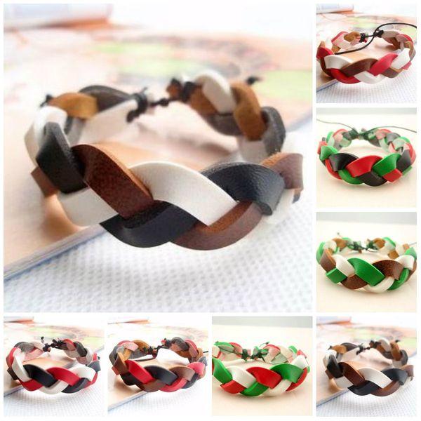 Charm Bracelet Men Jewelry Boho Rock Bracelets For Women Love Vintage Bracelets & Bangles Vintage Punk Multilayer Leather Bracelet