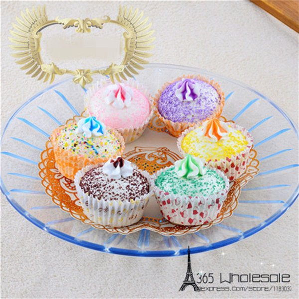 Free Shipping 6Pcs /Lot Squishy Cupcake Artificial Foods Toys 5Cm Fake Simulated Foods Home Office Bread Shop Decoration Gifts