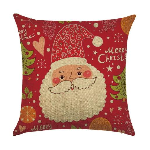 Home Sofa Christmas Cushion Cover Cartoon Square Throw Sofa Decoration Pillowcase Decorative Pattern Pillow Case Car Printed