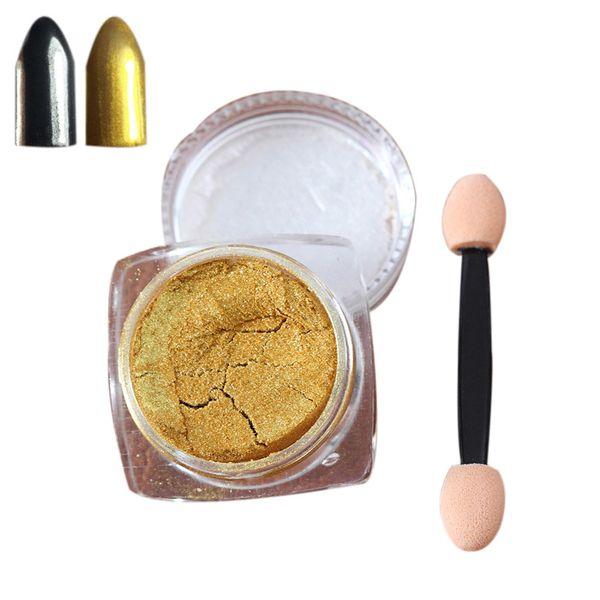 top popular Wholesale- 2g  Box High Quality Sliver Nail Glitter Powder Shinning Nail Mirror Powder Makeup Art DIY Chrome Pigment free shipping 2020