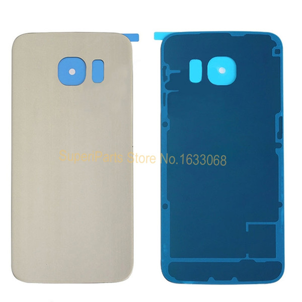 100% Original New For Sumsung Galaxy S6 Edge G925 Housing Real Glass Battery Back Door Cover Case &Logo Tracking NO.