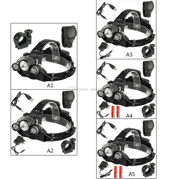 Rechargeable 6000 Lum CREE XM-L 3-T6 LED Headlamp Headlight Head Torch USB F00198 CADR