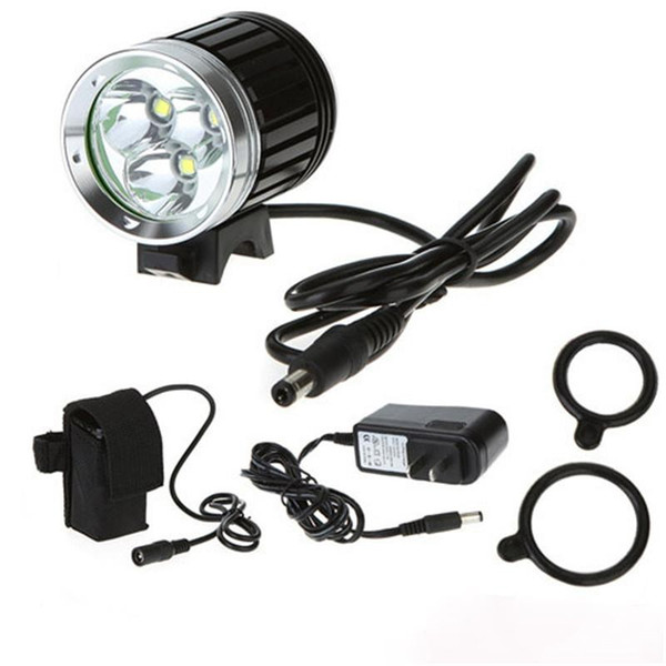 wholesale 4000 Lumen 3 x CREE XML T6 LED Bicycle Cycle Bike Light Headlight Headlamp Head Torch 4 Modes led Head lamp with battery charger