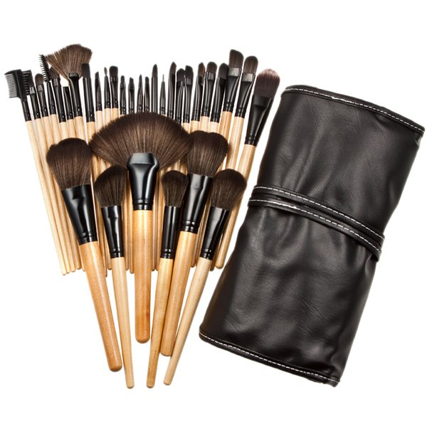32Pcs Makeup Brushes Set Professional Soft Cosmetic Eyebrow Shadow Nylon Wool Bristle Cosmetic Bursh Tool Kit Bag