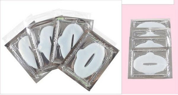 2000pcs Skin Care Collagen Crystal Lip Mask Pads Membrane Moisture White Gold Essence anti ageing wrinkle patch pad gel
