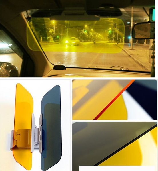 Car Anti Glare Goggles Mirror Car Sun Visor Sunscreen Sun Shade Sunshade with Night Vision Goggles Sunglasses Safe Driving