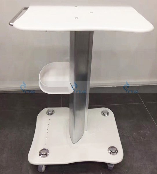 High Quality Beauty Machine Trolley Stand Movable Rolling Salon Cart Holder Desk No Shake with Basket Large for Cavitation Lipo Laser