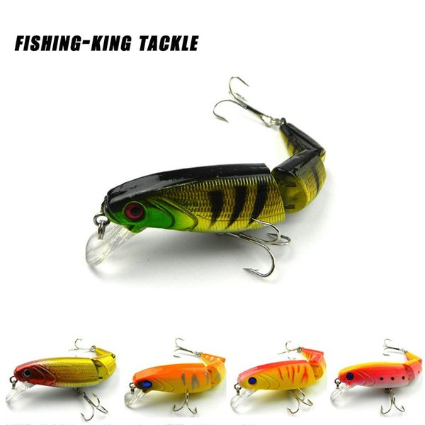 Hot-selling 1pieces/lot 10.5CM/14.0G Minnow Fishing Lures/Baits Plastic Hard baits 3 jointed Segments 6-66 Free shipping
