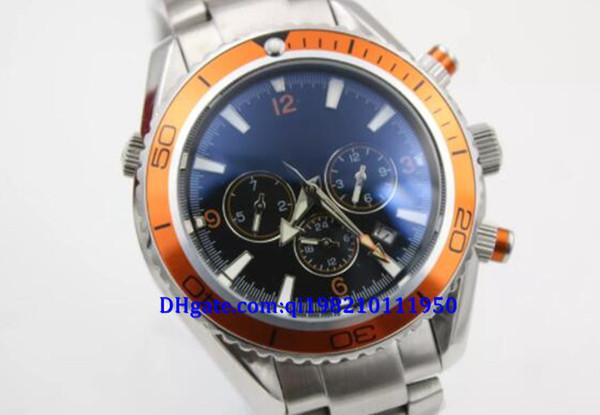 Top haute qualité Hot luxe hommes professionnel quartz planète marine coaxial plongée montre originale montre hommes montre plongée chronographe limite