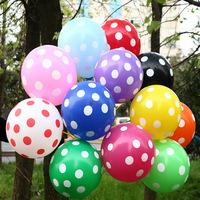 New Latex Polka Dot Balloon for Party Wedding Birthday child gifts Festival Supplies Wholesale 6 Colors 100pcs/lot/color