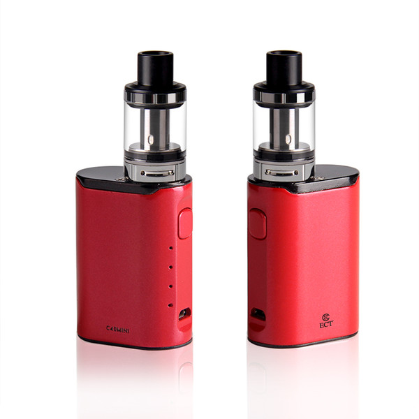 original ECT C40 mini 40W e cigarette Box Mod Starter Kits 2.0ml 1800mah electronic cigarette vape pens