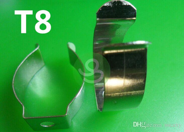 T5 / T8 / T4 lámpara tubo tubo abrazadera tubo abrazadera soporte clip Dispositivo de luz Clip de abrazadera resorte hebilla clip de metal tarjeta fluorescente DHL Envío Gratis