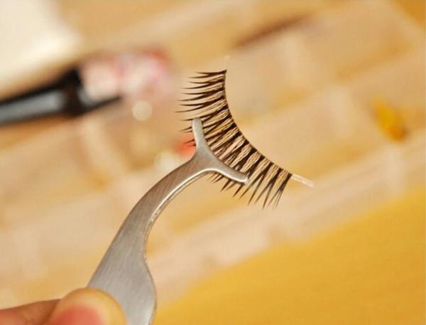 Hot Portable Schönheit Sliver Werkzeug Wimpernzange Falsche Wimpern Verlängerung Applikator Remover Clip Pinzette Nipper Gefälschte Wimpern Magic Tool Set