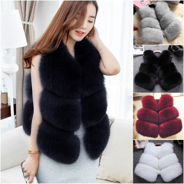 2017 Short Imitate Fur New Stylizing Waistcoat With Black Brown And Wine Red Women Upper Outer Garment Fur