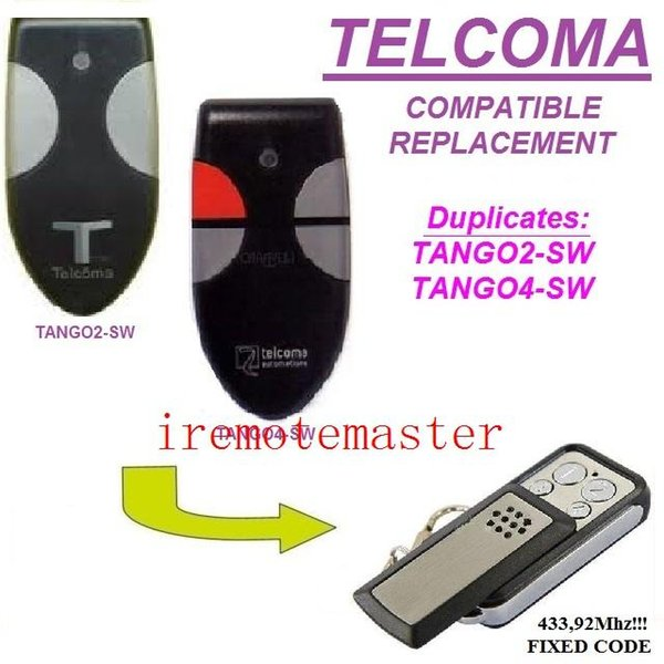 For TELCOMA TANGO2-SW/TANGO4-SW remote control replacement transmitter