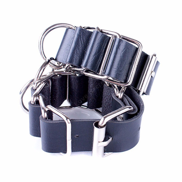 Soft black PU Leather Handcuffs Restraints Costume Restraint Bondage Erotic Toy Play Adult Sex Toys Sex Products Costume Tools