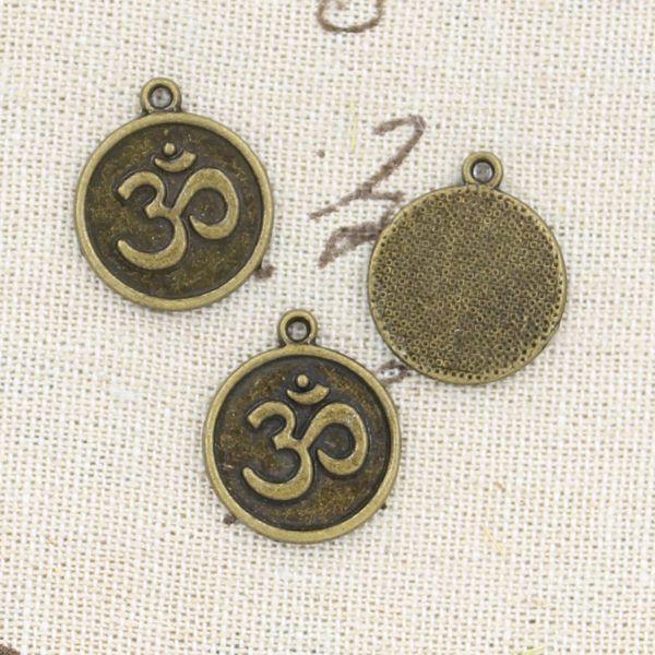 70pcs Encantos yoga om 18mm Antique Making colgante en forma, bronce tibetano de la vendimia, collar pulsera DIY