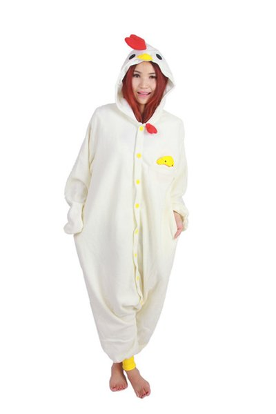 SS Free Shipping Chicken jumpsuit Animal Suits Pajamas Onesies Cosplay Costume Adult Pyjamas for Women Men Child