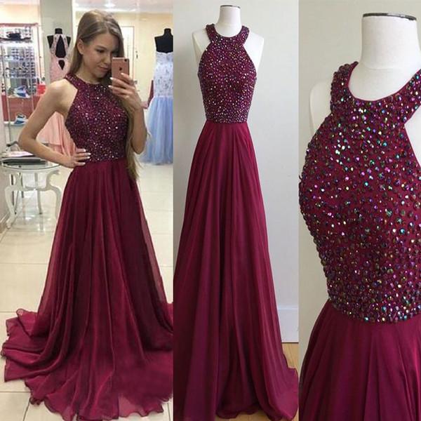 Новейшее платье без бретелек с V-образным вырезом без рукавов. Темно-красный лиф с бисером. Длинное вечернее платье.