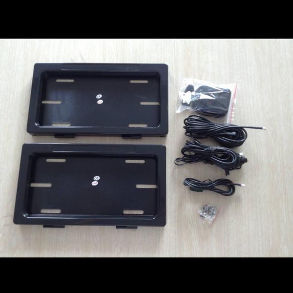 Kostenloser versand mid-east schwarz Kunststoff Nummernschild Rahmen vorne hinten kennzeichenrahmen Stealth Remote Privacy Cover fahrzeugabdeckung 2 stück set
