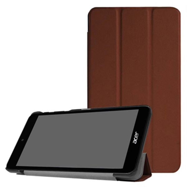 Tri-Fold Ultra Slim PU Leather Case Cover for Acer Iconia One 7 B1-790 7.0 inch Tablet + Stylus Pen as free gift 30pcs