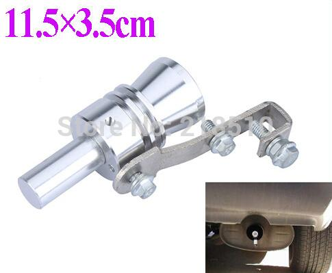 Universal Turbo Sound Whistle Exhaust Pipe Tailpipe Fake BOV Blow-off Valve Simulator Aluminum Size XL 11.5x3.5cm Free Shipping order<$18no