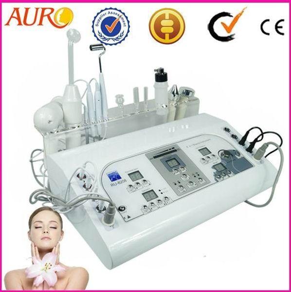 AU-8208 Best beauty salon use 8 in 1 vacuum and spray facial equipment galvanic facial machine price