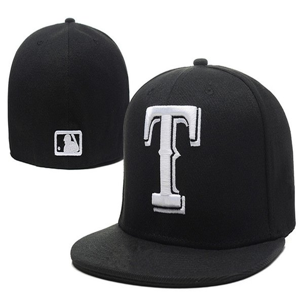 2019 Fashion Retro Rangers Street Fitted Fashion Hat T Letters Fitted Cap Men Women Basketball Hip Pop Hats