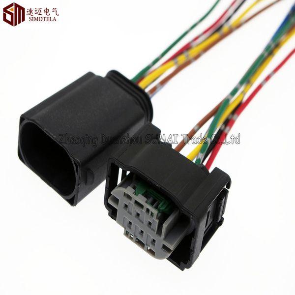 Connettore automatico AMP 6Pin 1.0mm, sensore limitatore / Acceleratore con cavo in rame da 10 cm, connettore elettrico Temp. Auto per BMW, Benz, Buick, Hyundai