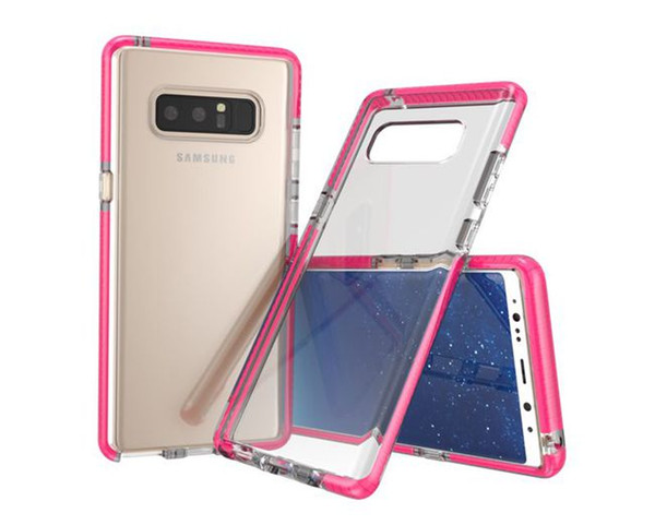 For Samsung Galaxy Note 8 Newest Glow in the Dark Cover Transparent Clear Colorful Luminous TPU Bumper Mobile Phone Case Retail Opp Bag