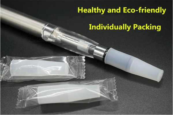 Individually Pack 510 Silicone Mouthpiece long Disposable Drip Tip Silicon Testing Caps For Ego Arctic Subtank RDA RBA Free shipping