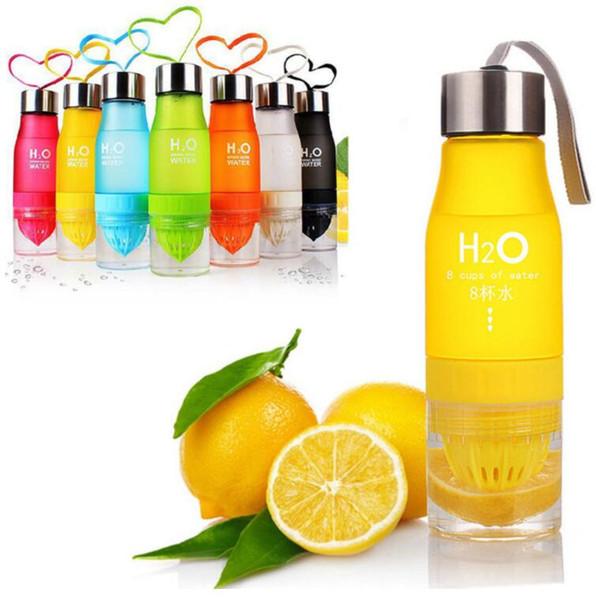 Xmas Gift 700ml Water Bottle H20 plastic Fruit infusion bottle Infuser Drink Outdoor Sports Juice lemon Portable Water