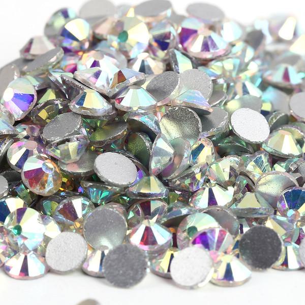 best selling Hot Sale 10 Bags Lot super glitter rhinestones Crystal AB Color ss3-ss50 Non HotFix FlatBack Nail Art Rhinestones gament Glass rhinestone