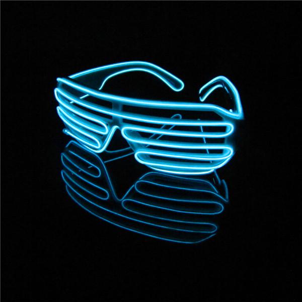 New Voice Control Eyeswear Accessory Light Up Shutter El Wire Glow ...