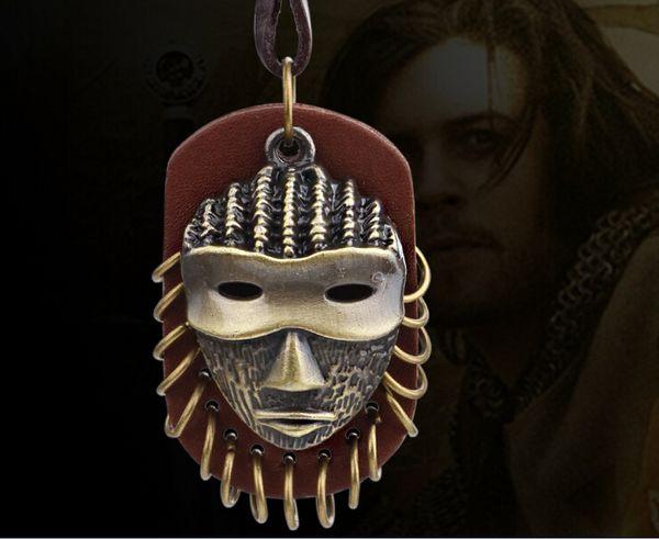 Vintga Deri Ve Metal Kolye Kolye Gizemli Maske Erkekler Ve Kadınlar Için Moda Takı Kolye YC2039-1 Ücretsiz Kargo