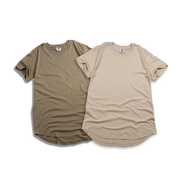 Summer top selling men short sleeve extended hip hop t shirt oversized tyga kpop swag clothes men's casual sport yeezus streetwear camisetas