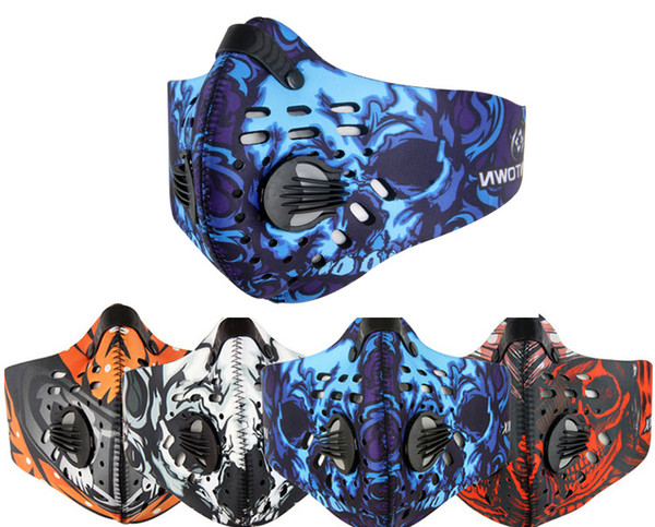 Mode Vélo Vélo Moto Équitation Visage Masque Sports De Plein Air Ski Snowboard Carbone Protection Filtre Demi Masque