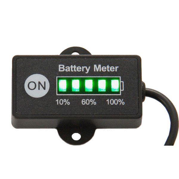 Spedizione Gratuita Batteria Indicatore di Carburante Batteria Meter 12 V 24 V Batteria Al Piombo Tester per auto moto e bici tosaerba ATV UTV