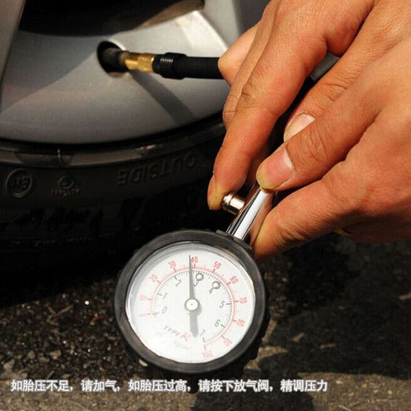 Tubo lungo Auto Car Bike Motor Tire Air Pressure Gauge Meter Tire Pressure Gauge 0-100 PSI Meter Vehicle Tester Sistema di monitoraggio