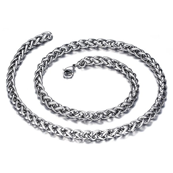 High Quality 316L Stainless Steel Twisted Link Chain for Jewelry 6mm Large Punk Chain with Lobster Clasp For Men