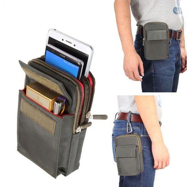 Bolso universal del teléfono móvil de la carpeta de los deportes de 6.4 pulgadas para el deporte al aire libre del bolso de hombro del iPhone / Power Bank para el caso de la cubierta del ejército de Samsung / Xiaomi