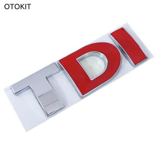 Metal Alloy 3D TDI Car Emblem Badge Tail Decal Vehicle Sticker for VW Skoda Golf PASSAT MK4 MK5 MK6 Car DIY Decoration