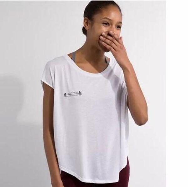 Wholesale-Loose Frauen kurze Hülse Yoga Shirt Sport Fitness Tshirt Sommer trocken schnell Hemd Femme Kittel Gym Tops Kleidung camisetas mujer
